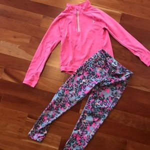 Other - Girls Pink Leopard Activewear